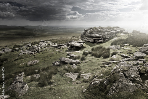 In de dag Khaki Dramatic Wild Moorlands