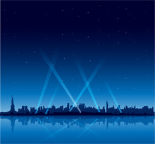 New York City At Night Copyspace Background