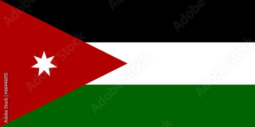 Fototapeta Flag of Jordan