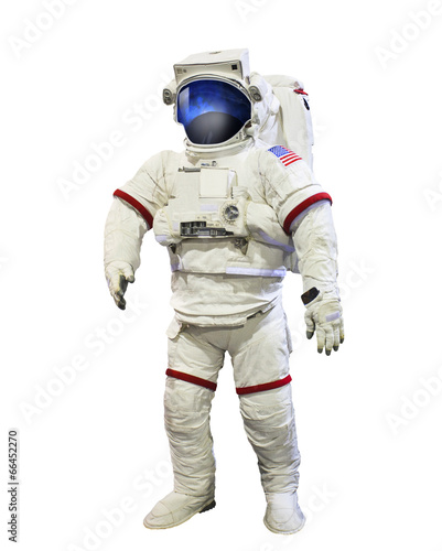 Tuinposter Nasa nasa astronaut pressure suit with galaxi space reflection on mas