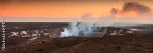 Deurstickers Vulkaan Halemaumau Crater At Sunset in Hawaii
