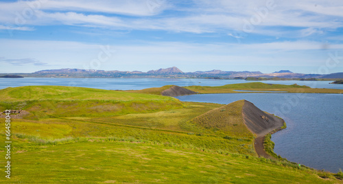 Staande foto Scandinavië beautiful vibrant summer landscape of famous place tourist icela