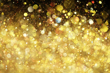Fototapeta Wieloczęściowe Gold glitter