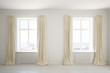 canvas print picture - Leerer Raum mit Vorhängen am Fenster