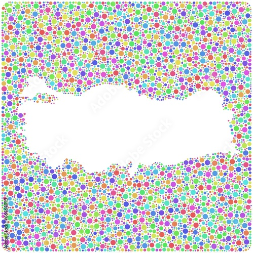 Turkey On Europe Map.Map Of Turkey Europe In A Mosaic Of Harlequin Bubbles Buy This
