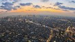 Tokyo Cityscape Time Lapse Zoom