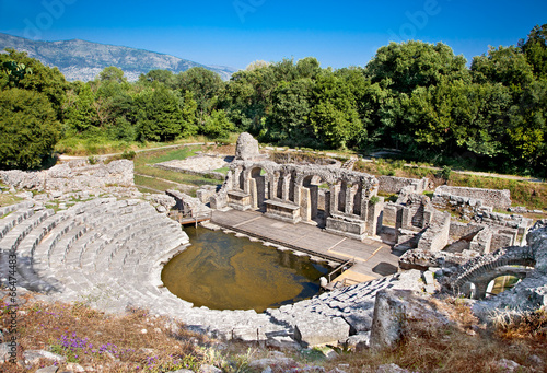 Photo  Amphitheater of the ancient Baptistery at Butrint, Albania.