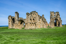The Ruins Of Tynemouth Priory And Castle, England