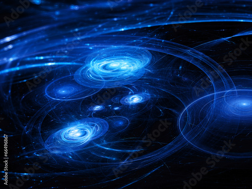 fototapeta na lodówkę Systemy gwiazdkowy z trajektorii w przestrzeni kosmicznej