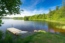 Summer Swedish Lake In Morning...
