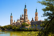 Summer view of of Cathedral in Zaragoza