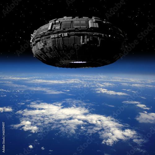 Spoed Foto op Canvas UFO ufo