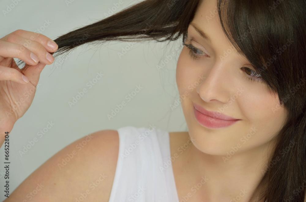 Fototapeta Beautiful brunette