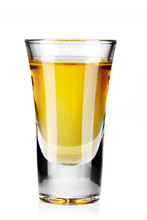 Gold Tequila Shot Isolated On ...