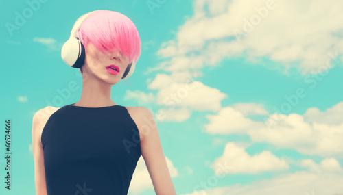 Photo  Fashion Girl. Sky. Music