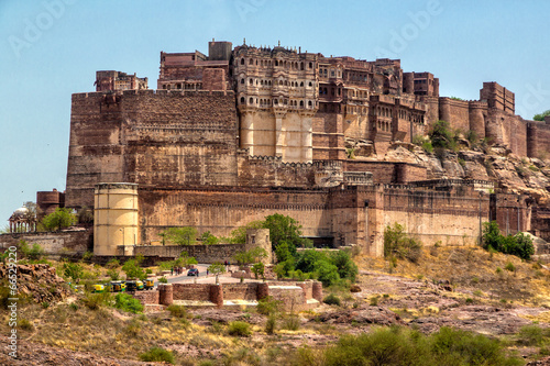Stickers pour porte Fortification Mehrangarh fort