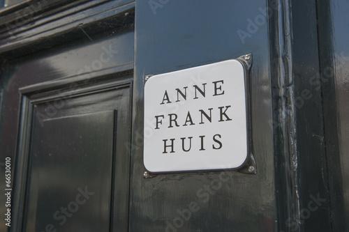 Anne Frankhaus à Amsterdam Poster Mural XXL