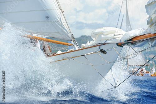 Jachty, szczegóły Fototapeta