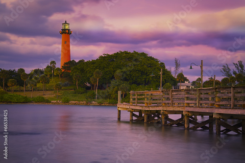 Fotografie, Obraz  Jupiter Inlet Lighthouse