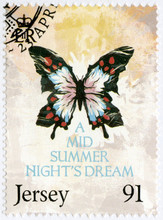 JERSEY - 2014: Shows Illustration From A Midsummer Night's Dream