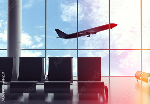 Poster Aeroport airliner