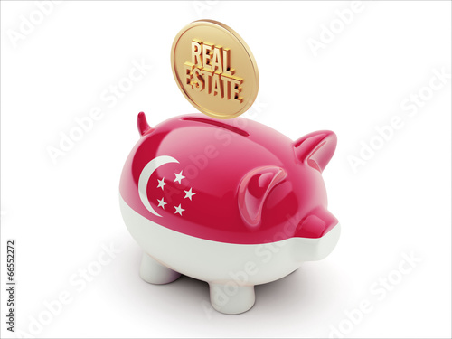 Photo  Singapore Real Estate Concept Piggy Concept