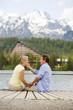 Senior couple on pier
