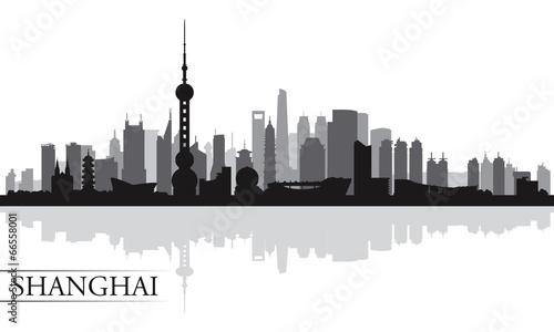 Naklejka premium Szanghaj sylwetka tło panoramę miasta