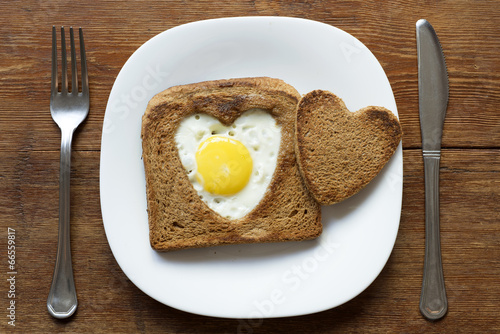 Poster de jardin Ouf toast with egg