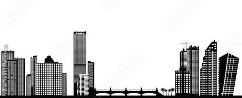 Deurstickers Rotterdam miami skyline