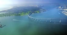 Aerial View Of Coronado Island...