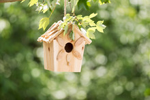 New Wooden Birdhouse Hanging O...