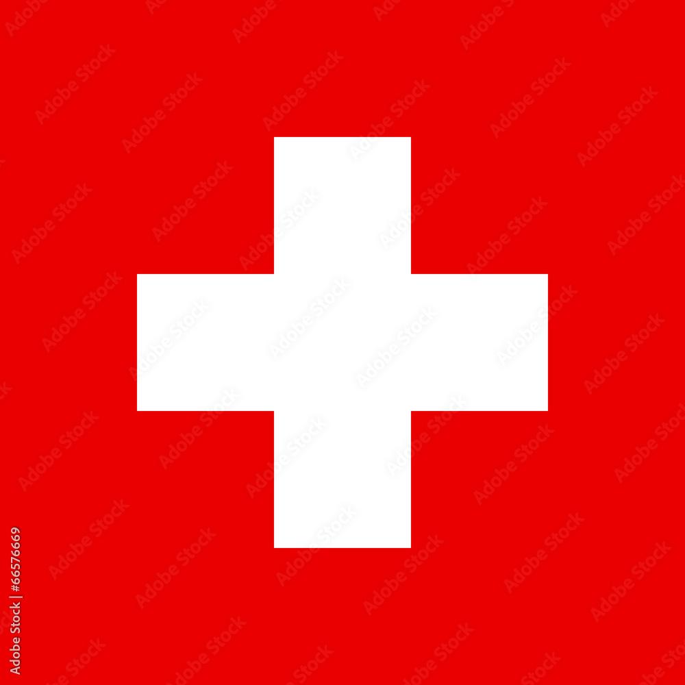Fototapeta Flag of Swiss