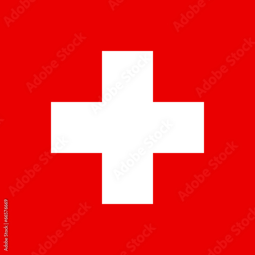 Fototapeta Flag of Swiss