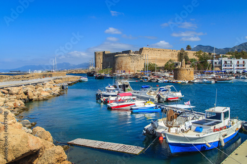 Photo Stands Cyprus Fortress in Kyrenia (Girne), North Cyprus