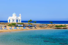A Church On A Shore Near Protaras, Cyprus