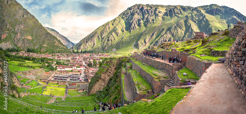 Fototapeta  Ollantaytambo, old Inca fortress in the Sacred Valley in the And