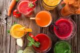 Świeże soki i zdrowe napoje