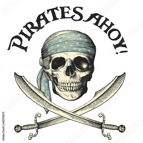Pirates Symbol With Skull And Crossed Sabers Buy This Stock Vector