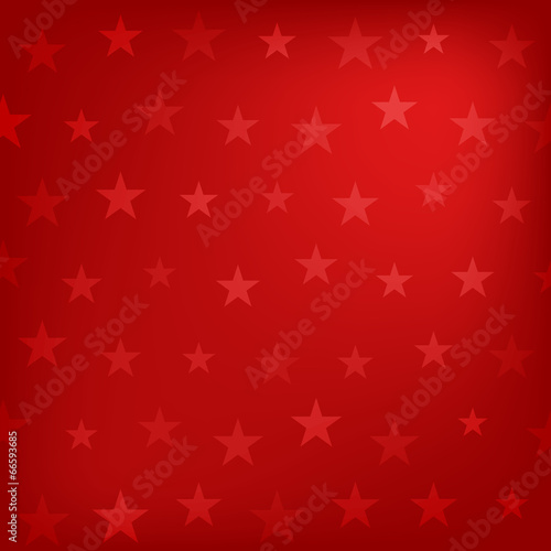 Wall mural - Red stars pattern