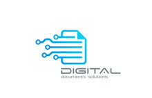 Business Technology Logo. Document Circulation System