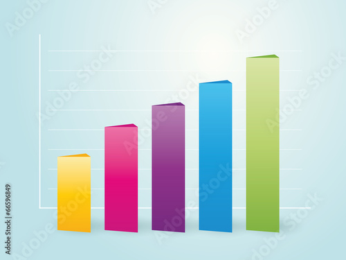 Fotografía  simple column color charts