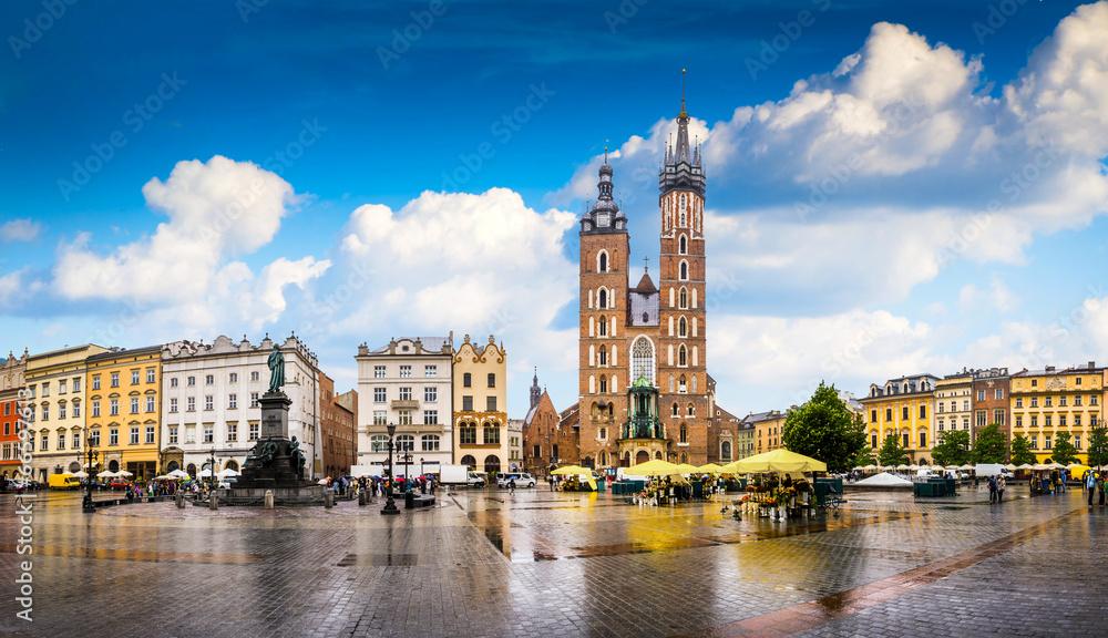Fototapety, obrazy: Krakow - Poland's historic center, a city with ancient