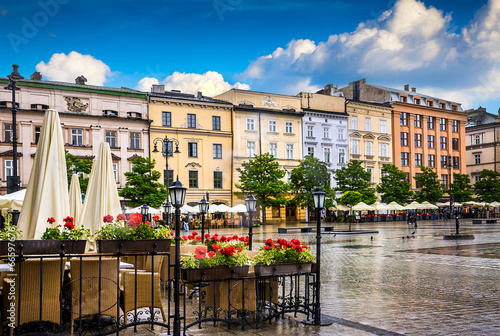 Fototapeta Krakow - Poland's historic center, a city with ancient obraz