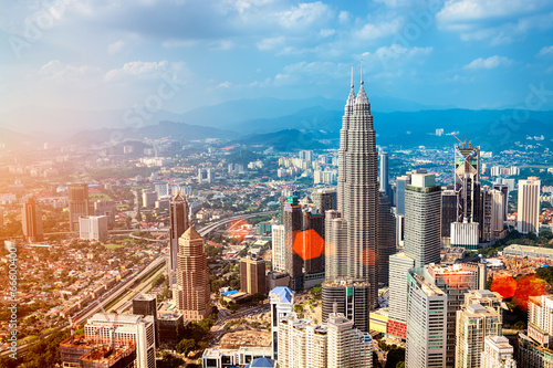 Kuala Lumpur skyline - Malaysia. Canvas Print