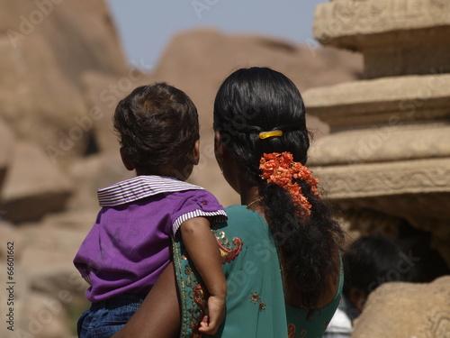 Fotografie, Obraz  Vida cotidiana en Hampi (India), patrimonio de la Humanidad