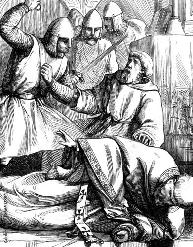 Obraz na płótnie Assassination of Thomas a Becket