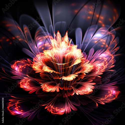 streszczenie-pomaranczowy-i-fioletowy-kwiat