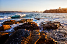View Towards Manly From Freshwater Beach, Sydney.