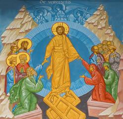 Fototapeta Do kościoła Brugge - Fresco of Jesus Christ in the heaven in orthodox church